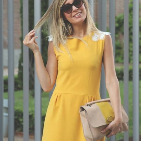 Vestido Olivia amarillo por My Showroom