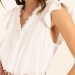 blusa botones blanco