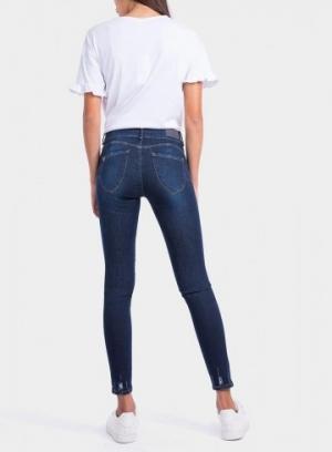pantalones tiro alto vaquero