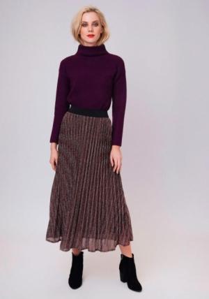 falda midi brillos multicolor
