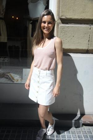 Falda vaquera blanca