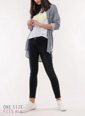 pantalones gris tiro medio