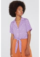 Blusa lila motas