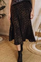 falda leopardo kaki